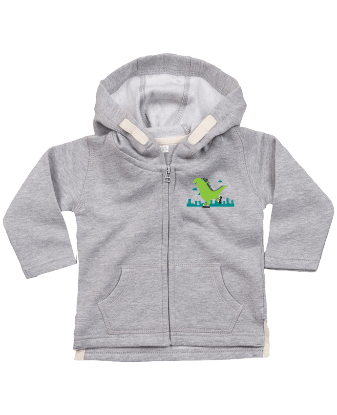 Hoddie with zip for baby Roller Skating by flyingmouse365