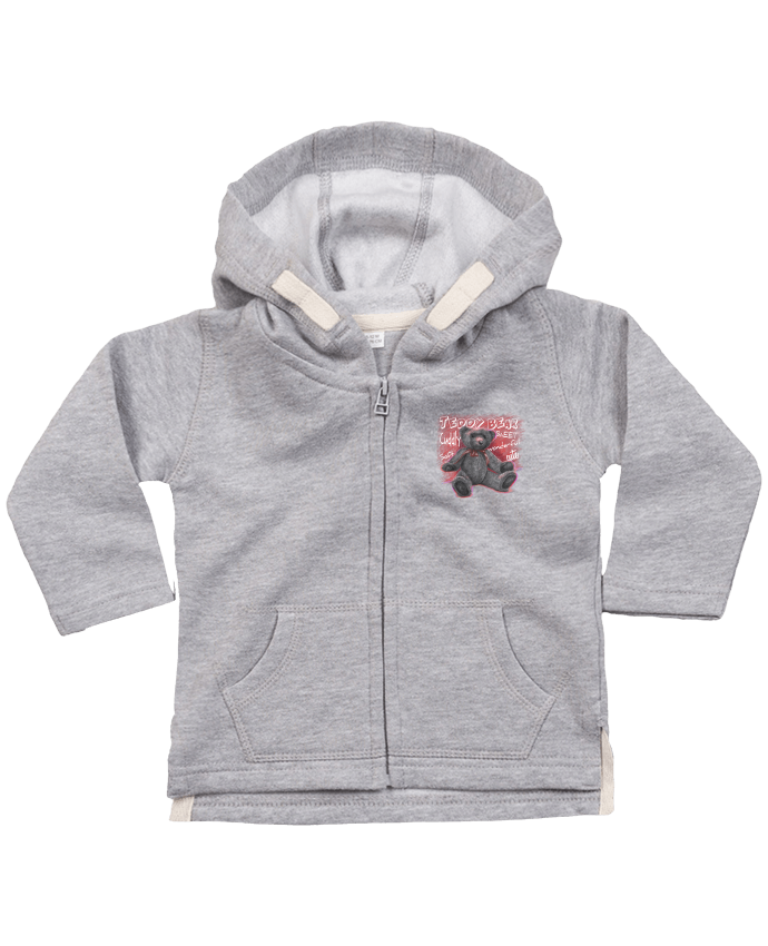 Hoddie with zip for baby Teddy Bear by MaZa