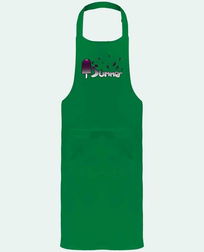 Garden or Sommelier Apron with Pocket Summer version féminine by Tasca