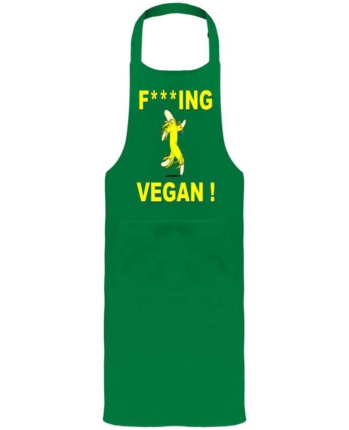 Garden or Sommelier Apron with Pocket Fucking Vegan by ilcapitano95
