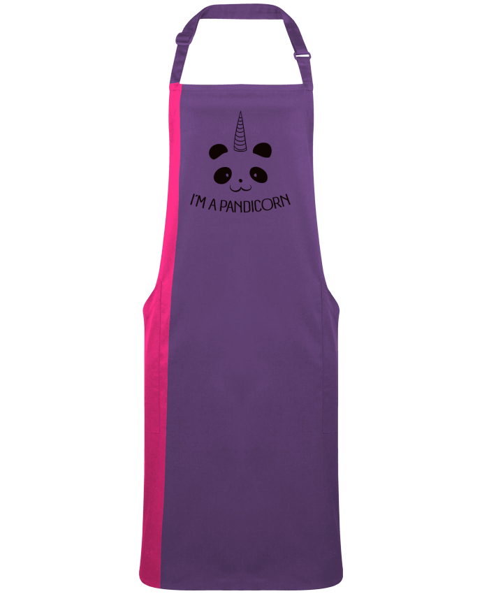 Two-tone long Apron I'm a Pandicorn by  Freeyourshirt.com
