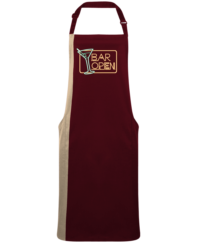 Two-tone long Apron Bar open by  Freeyourshirt.com
