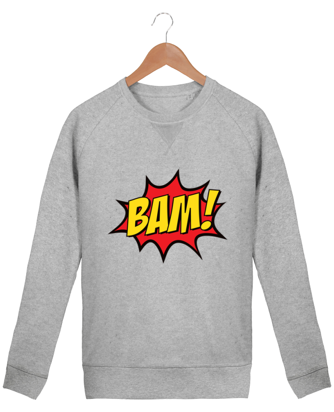 sweatshirt Men crew neck Stanley Strolls BAM ! by Freeyourshirt.com