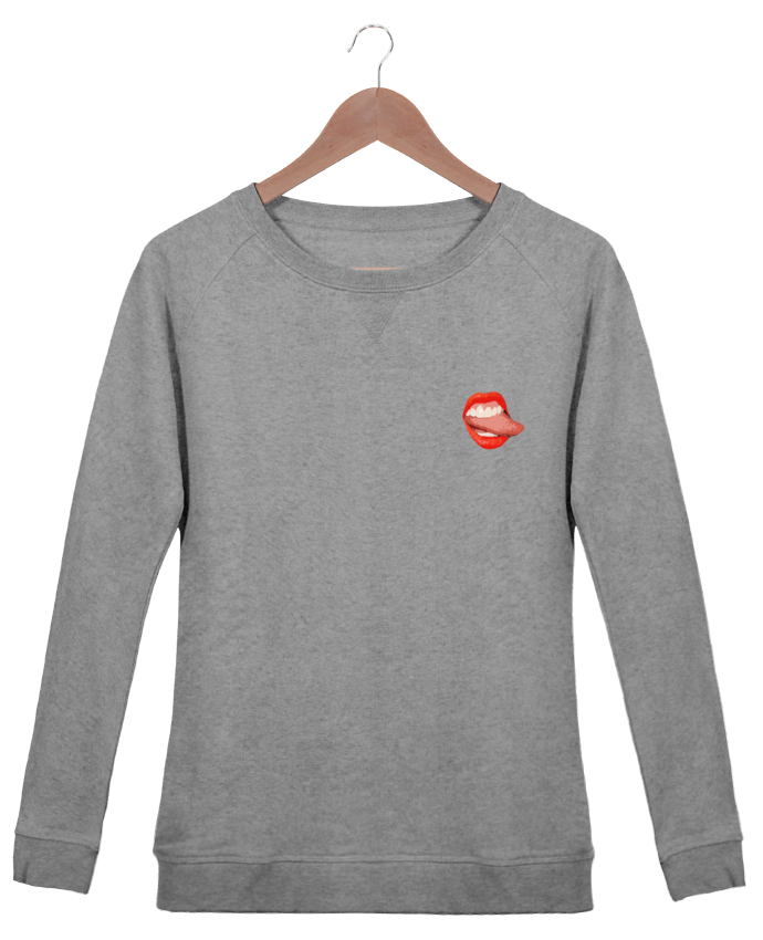 Sweatshirt Women crew neck Stella Trips Tongue by lisartistaya