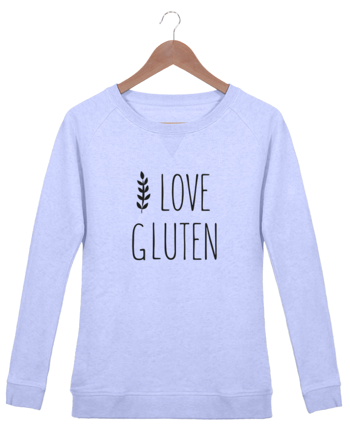 Sweatshirt Women crew neck Stella Trips I love gluten by Ruuud by Ruuud