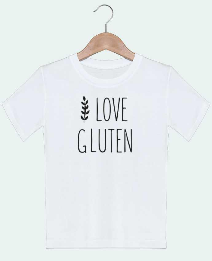 T-Shirt Kids I love gluten by Ruuud Ruuud