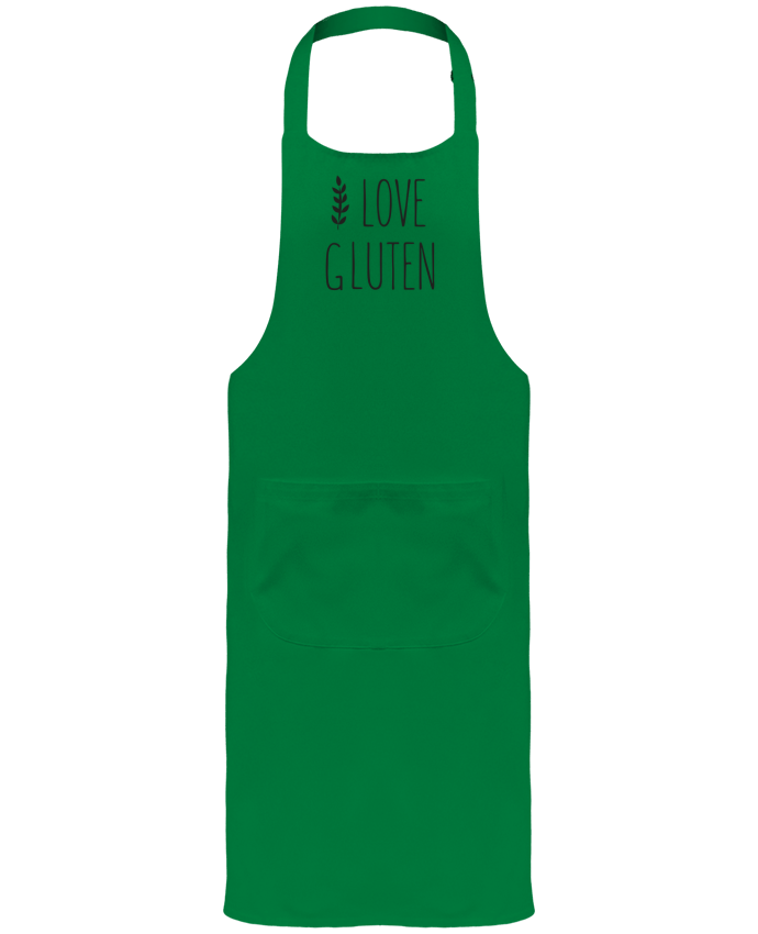 Garden or Sommelier Apron with Pocket I love gluten by Ruuud by Ruuud