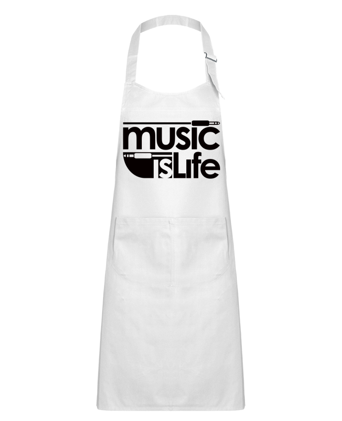 Kids chef pocket apron Music is Life by Freeyourshirt.com