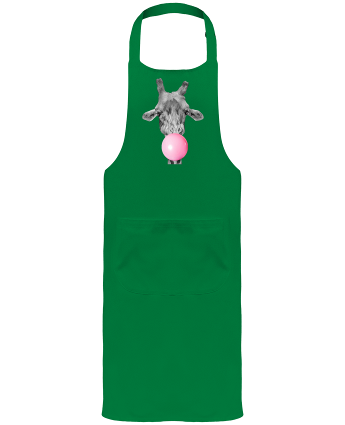Garden or Sommelier Apron with Pocket Girafe bulle by justsayin