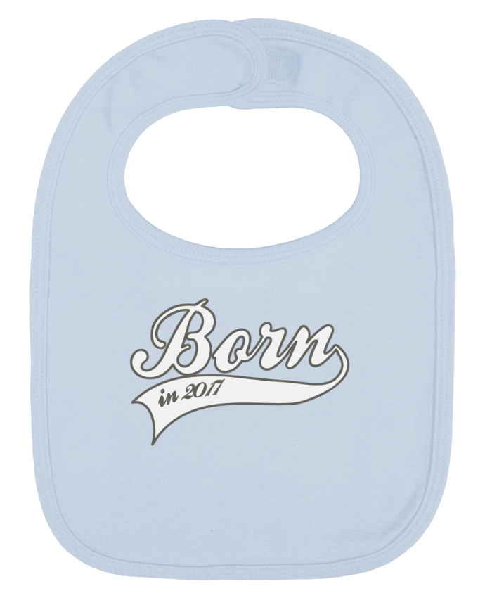 Baby Bib plain and contrast Born in 2017 by justsayin