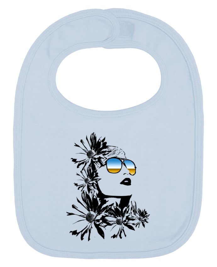 Baby Bib plain and contrast women by Graff4Art