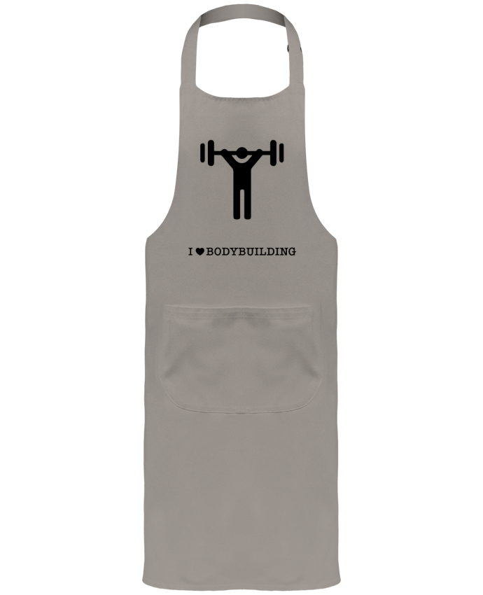 Garden or Sommelier Apron with Pocket I love bodybuilding by will