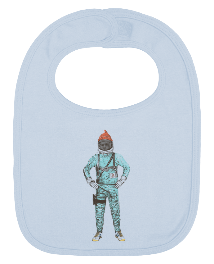 Baby Bib plain and contrast Zissou in space by Florent Bodart