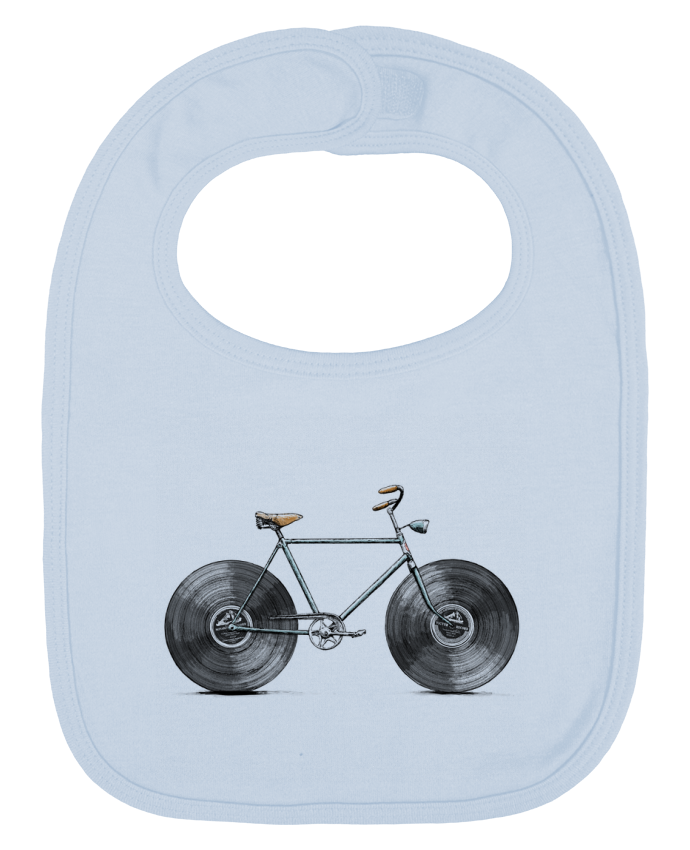 Baby Bib plain and contrast Velophone by Florent Bodart