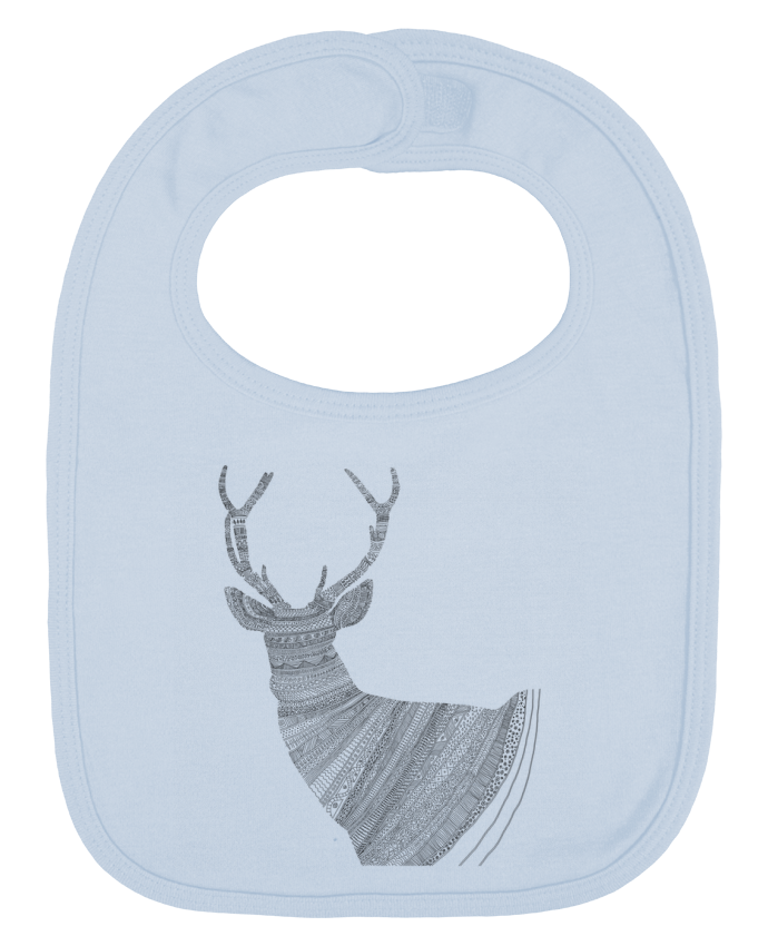 Baby Bib plain and contrast Stag transbyent by Florent Bodart