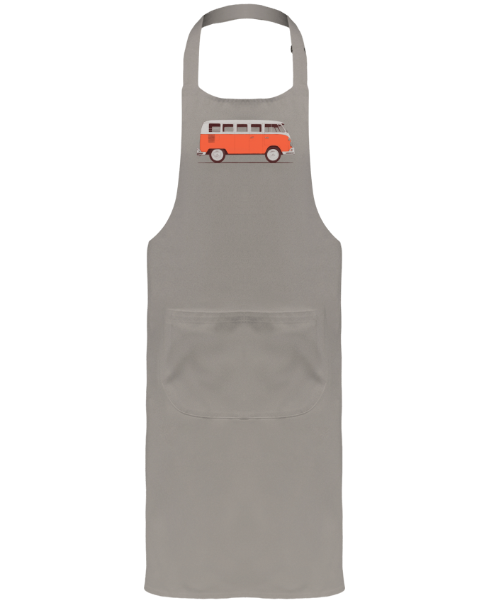 Garden or Sommelier Apron with Pocket Red Van by Florent Bodart