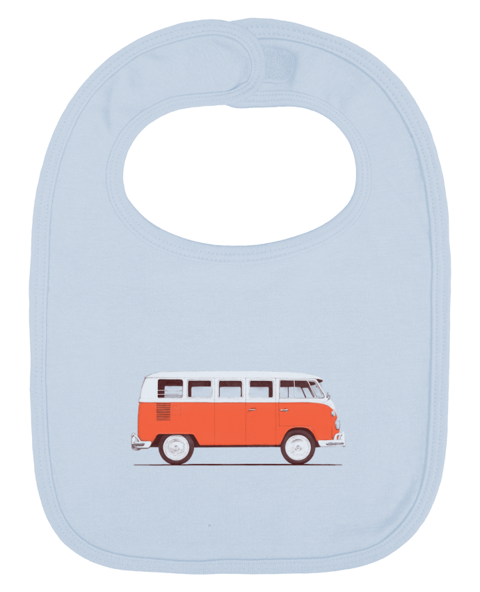 Baby Bib plain and contrast Red Van by Florent Bodart