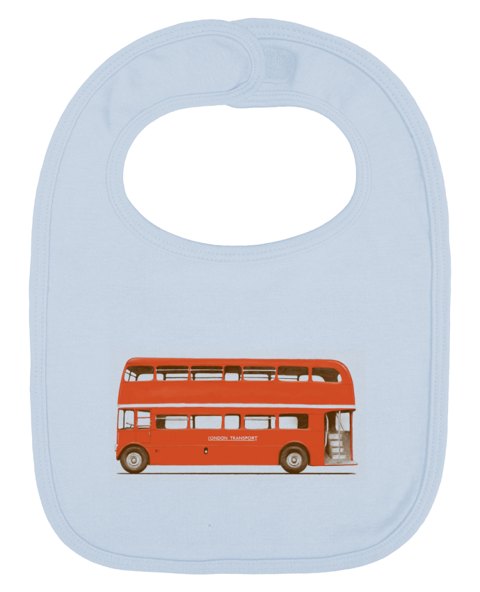 Baby Bib plain and contrast Red London Bus by Florent Bodart