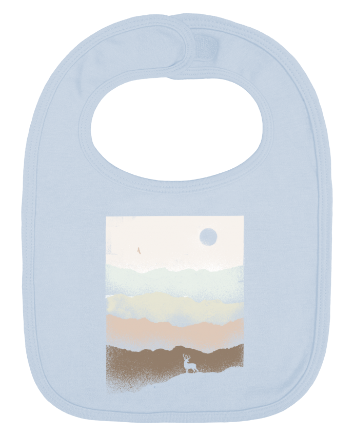 Baby Bib plain and contrast Quietude by Florent Bodart