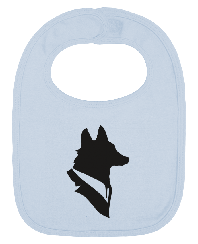 Baby Bib plain and contrast Mr Fox by Florent Bodart
