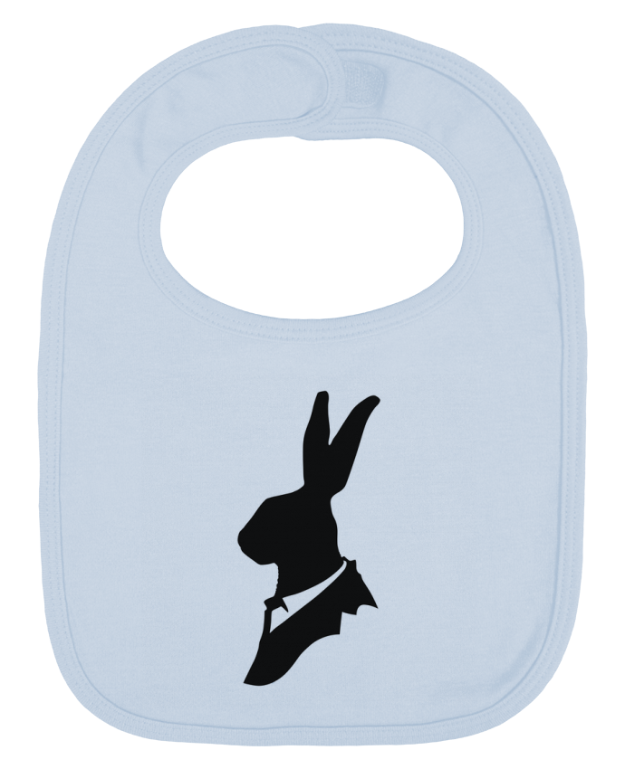 Baby Bib plain and contrast Monsieur Lapin by Florent Bodart