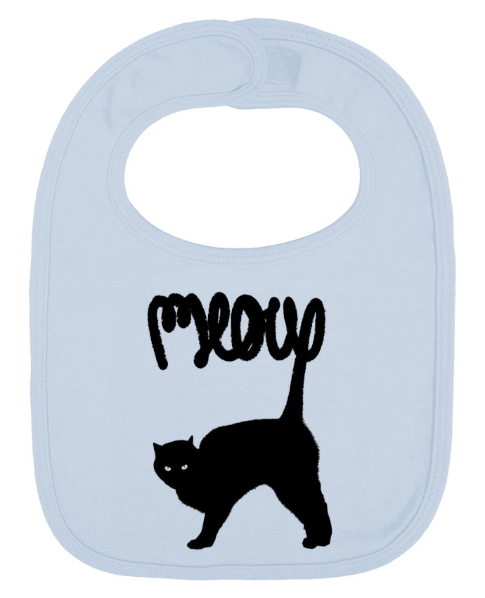 Baby Bib plain and contrast Meow by Florent Bodart