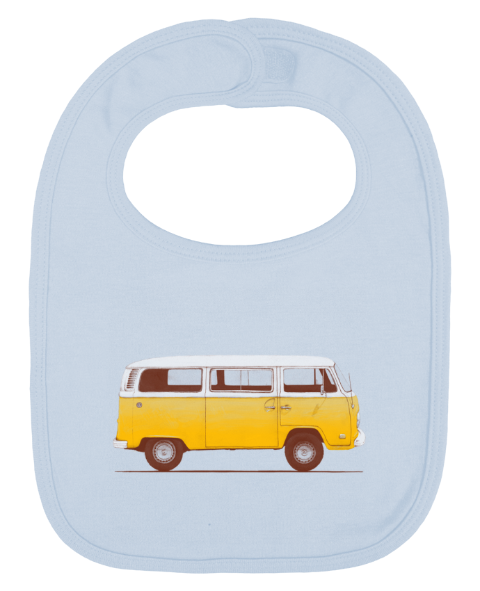 Baby Bib plain and contrast Yellow Van by Florent Bodart