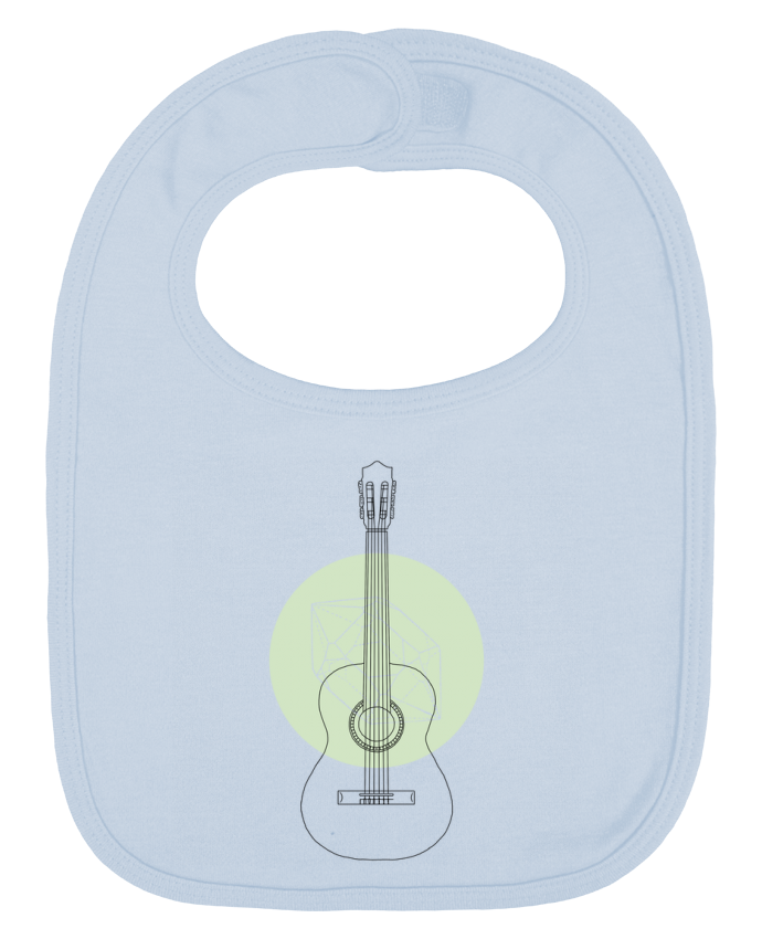 Baby Bib plain and contrast Guitar by Florent Bodart