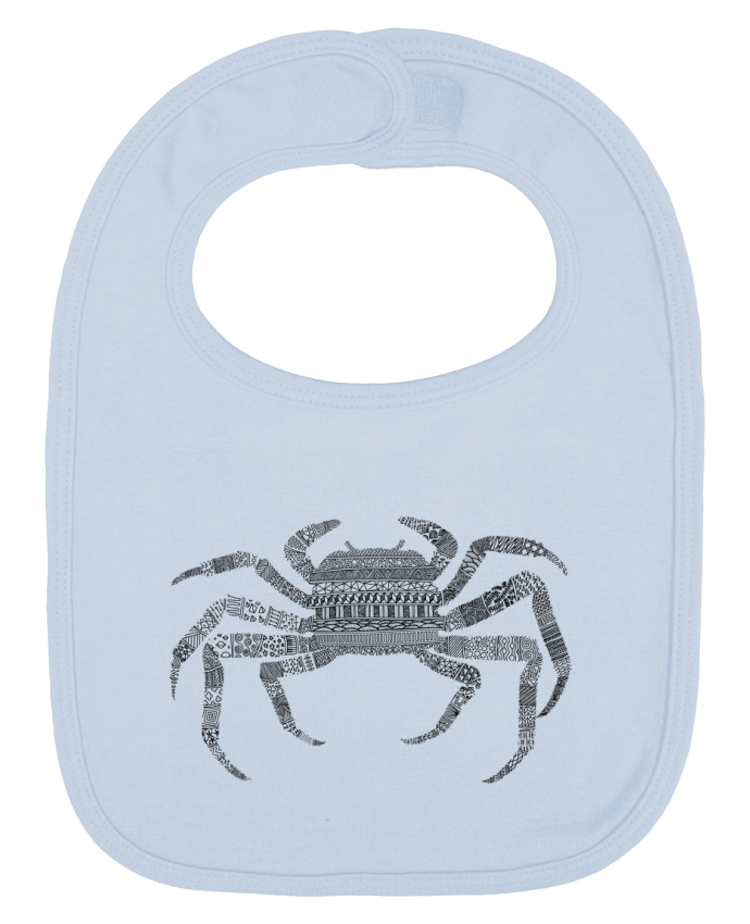Baby Bib plain and contrast Crab by Florent Bodart
