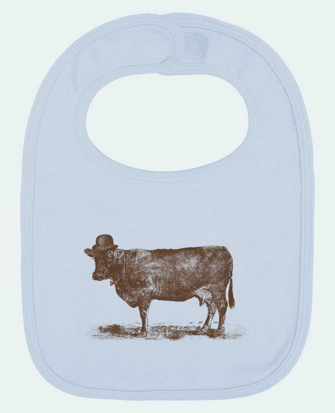 Baby Bib plain and contrast Cow Cow Nut by Florent Bodart