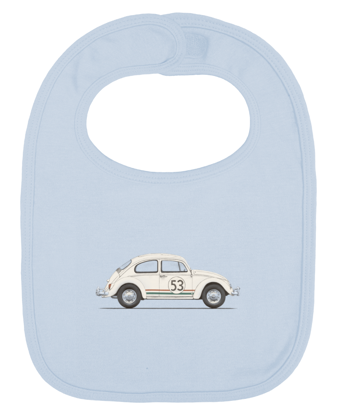 Baby Bib plain and contrast Beetle by Florent Bodart