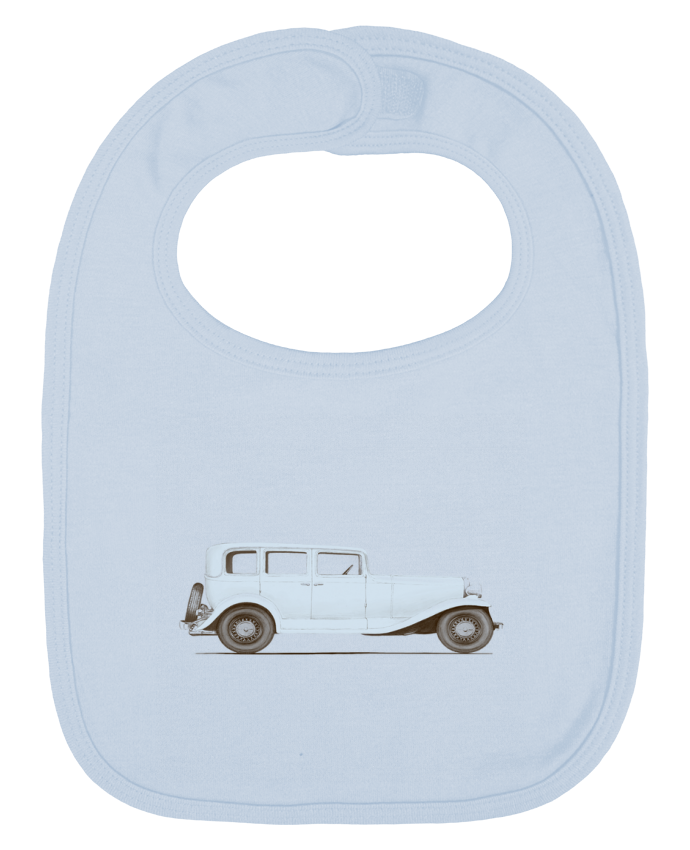 Baby Bib plain and contrast Car of the 30s by Florent Bodart