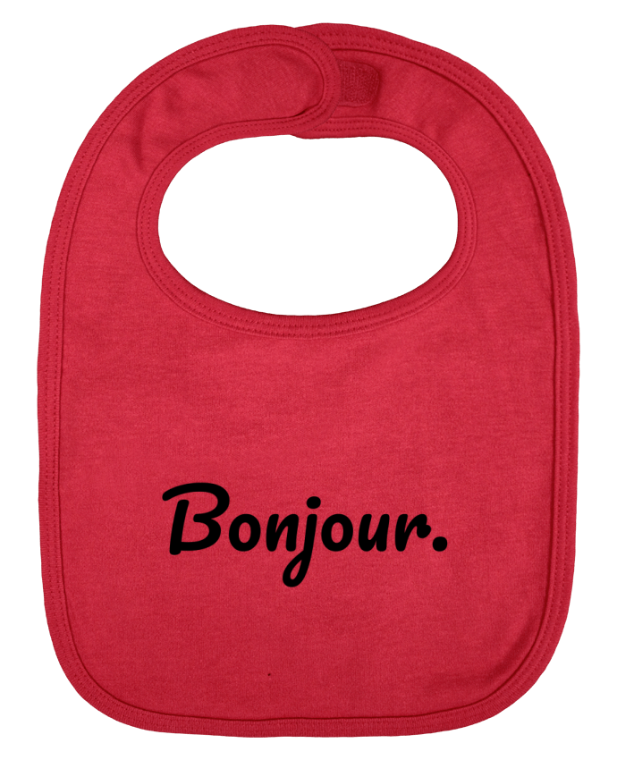 Baby Bib plain and contrast Bonjour. by tunetoo