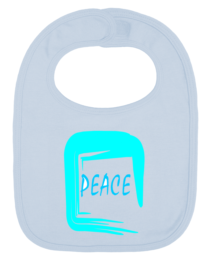 Baby Bib plain and contrast Peace by Fanjadesign