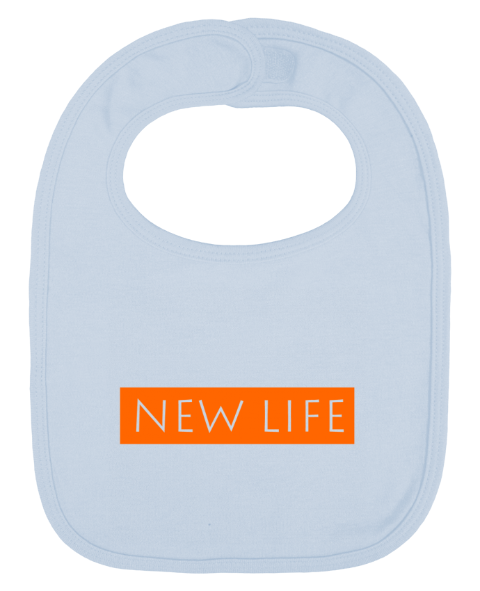 Baby Bib plain and contrast Life by Fanjadesign