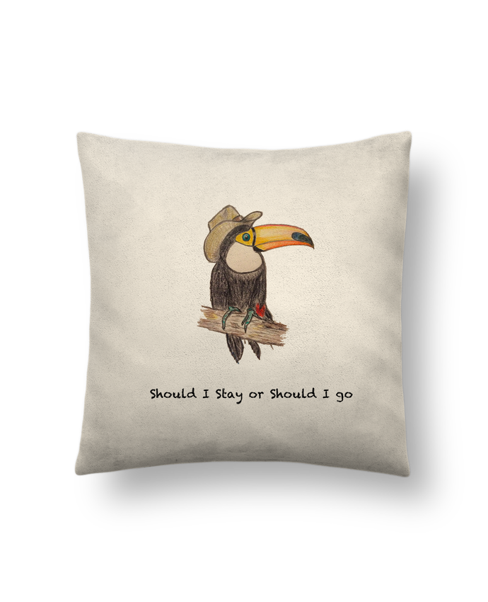 Cushion suede touch 45 x 45 cm TOUCAN by La Paloma