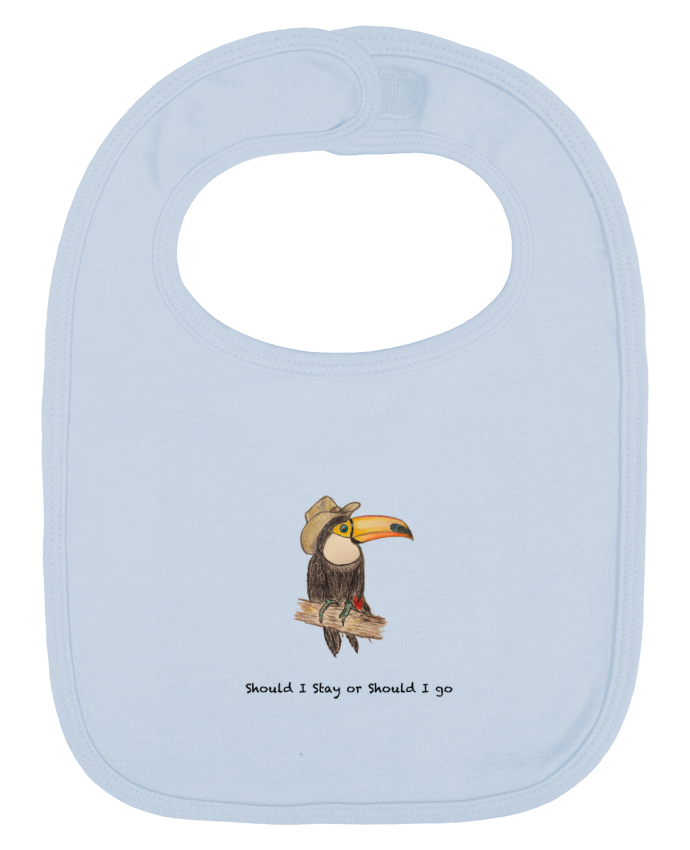 Baby Bib plain and contrast TOUCAN by La Paloma