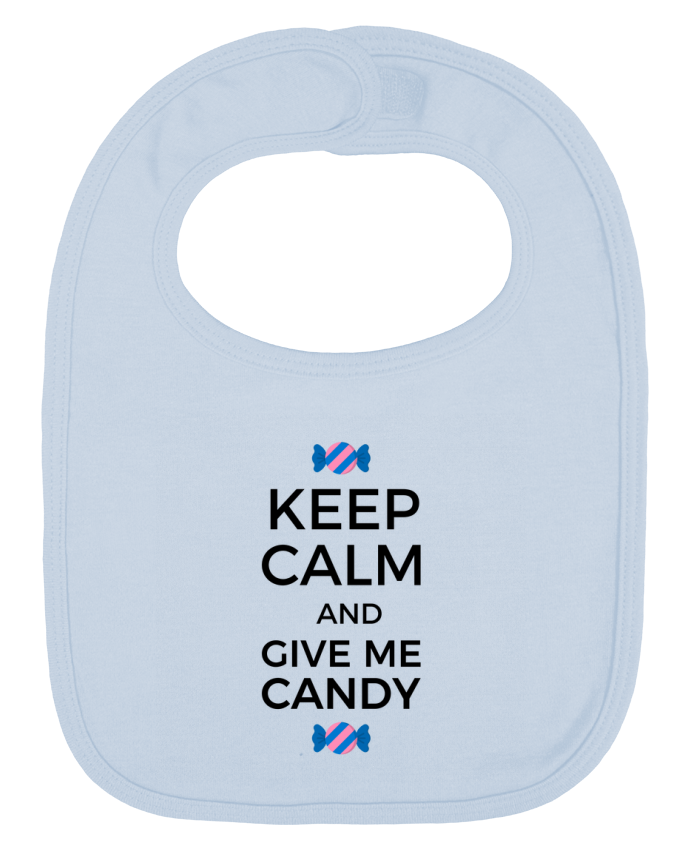 Baby Bib plain and contrast Keep Calm and give me candy by tunetoo