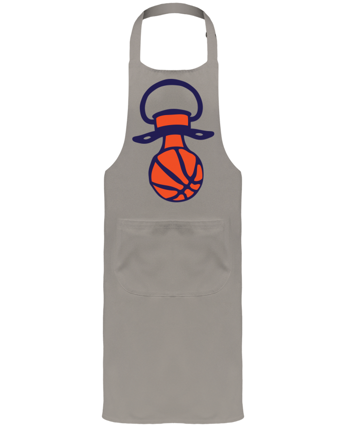 Garden or Sommelier Apron with Pocket ballon basketball en tetine basket by Achille