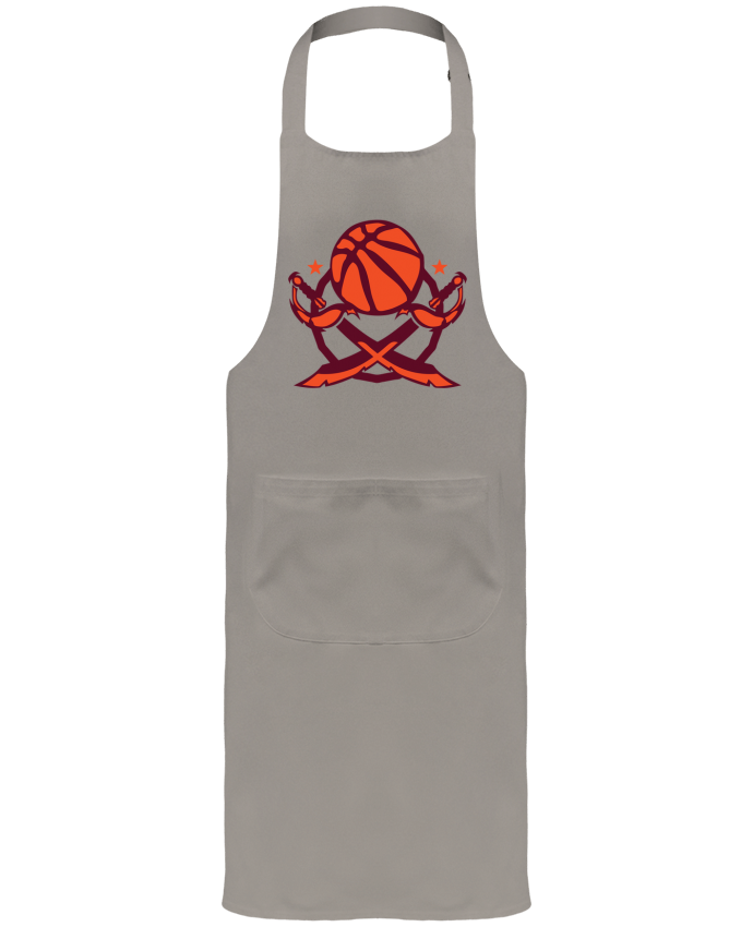 Garden or Sommelier Apron with Pocket basketball logo sabre club equipe team by Achille