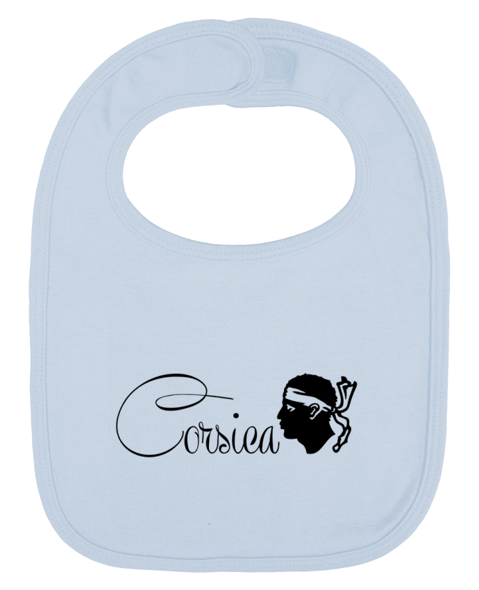 Baby Bib plain and contrast Corsica Corse by Freeyourshirt.com