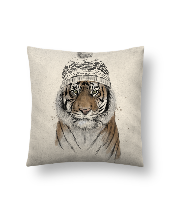Cushion suede touch 45 x 45 cm Siberian tiger by Balàzs Solti