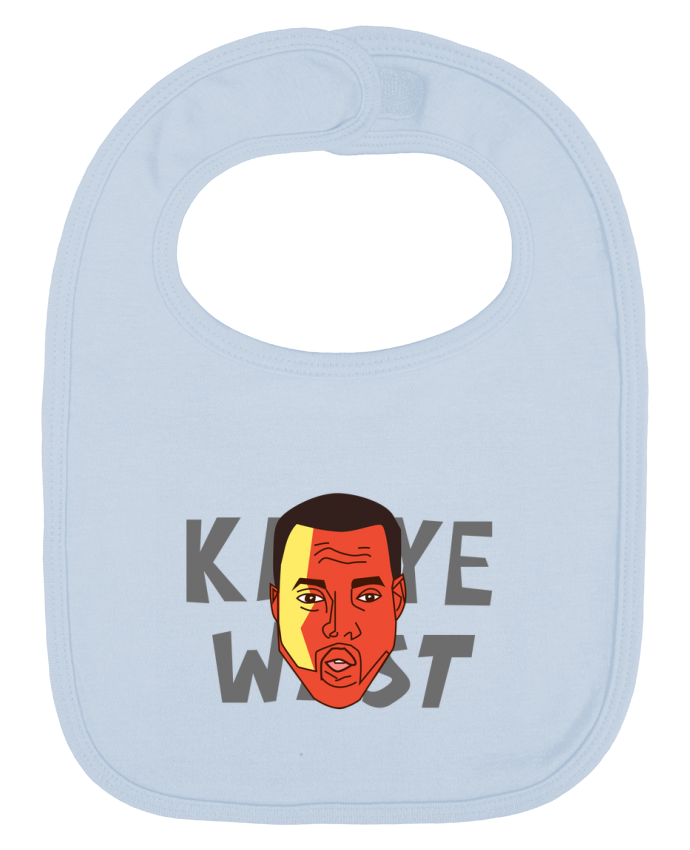 Baby Bib plain and contrast Kanye West by Morgane Dagorne