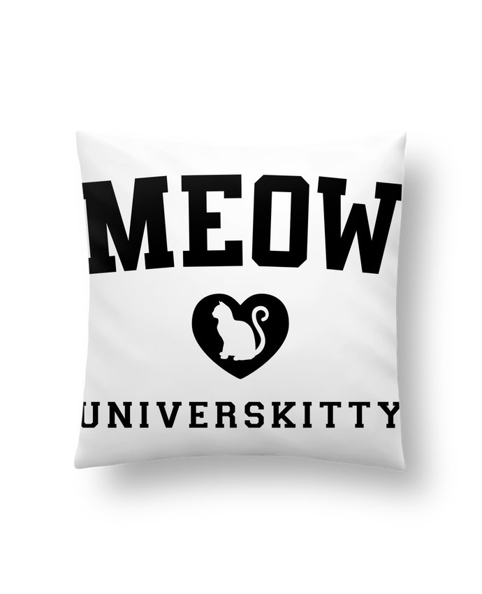 Cushion synthetic soft 45 x 45 cm Meow Universkitty by Freeyourshirt.com