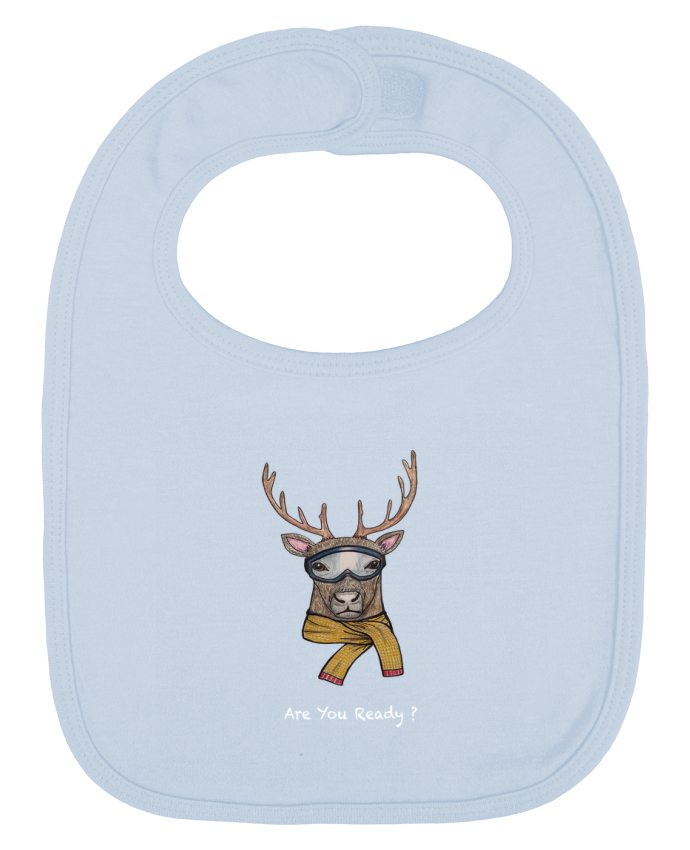 Baby Bib plain and contrast renne snowborder by La Paloma