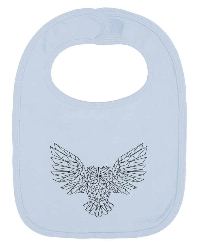 Baby Bib plain and contrast Geometric Owl by Arielle Plnd