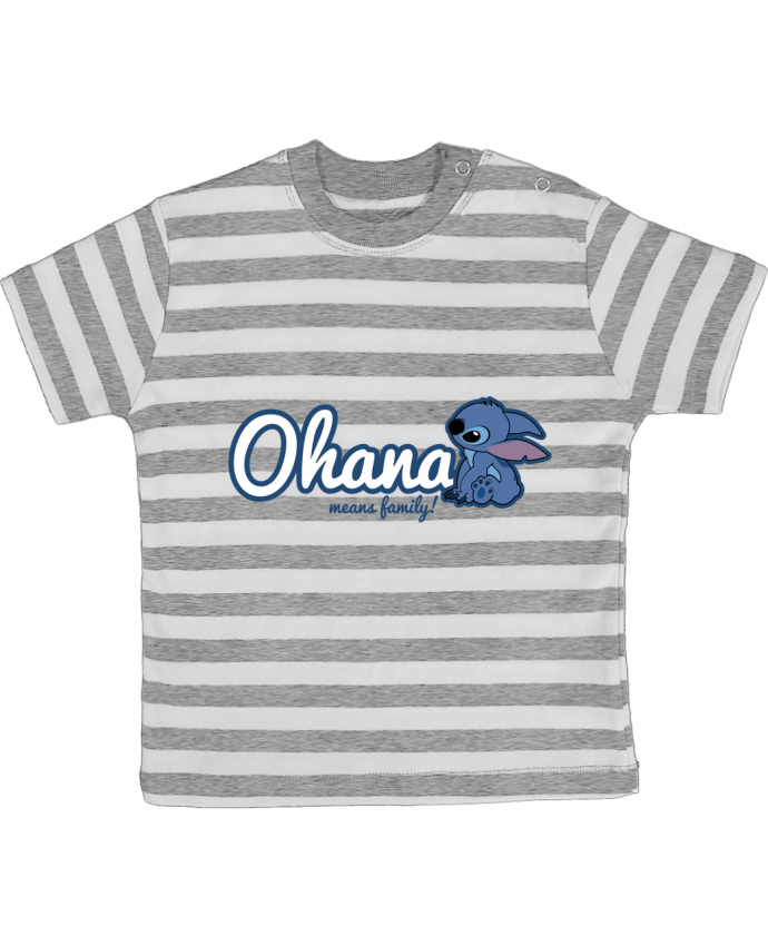 T-shirt baby with stripes Ohana means family by Kempo24