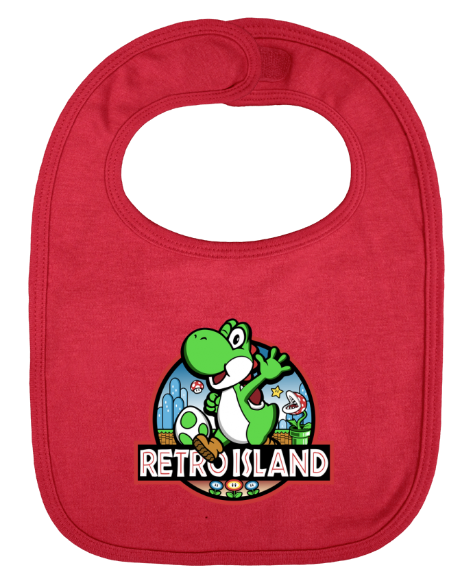 Baby Bib plain and contrast Retro Park by Kempo24