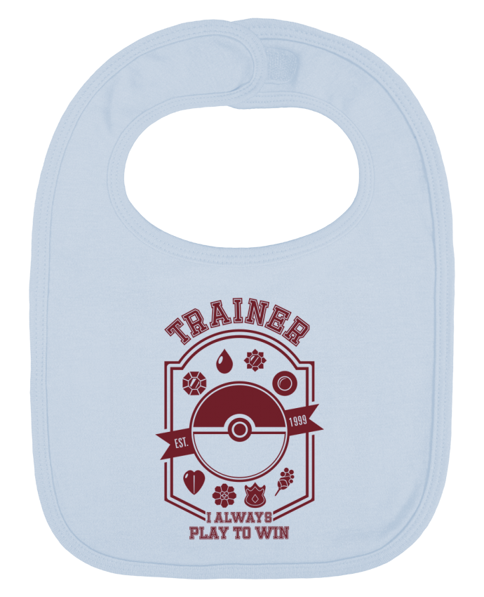 Baby Bib plain and contrast Trainer since 1999 by Kempo24
