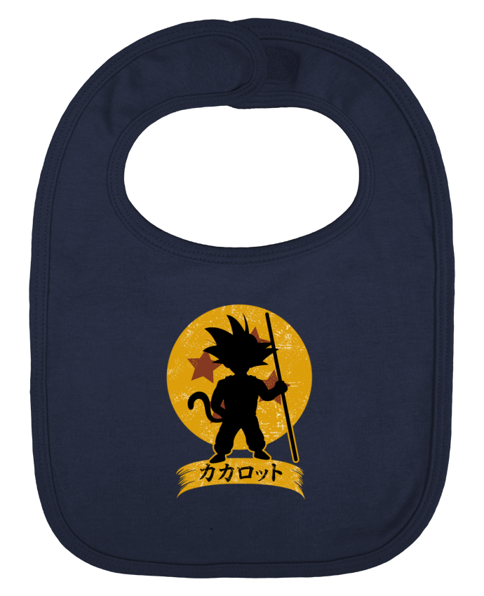 Baby Bib plain and contrast Kakarrot Crest by Kempo24